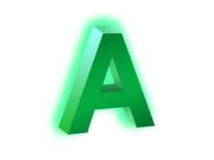 Объёмная световая буква